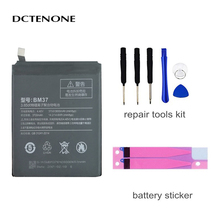 DCTENONE Phone Battery BM37 For Xiaomi Mi 5s Plus International Version Cellphone Battery 3800mAh High Capacity PCB Lithium Poly qrxpower original bm37 replacement battery for xiaomi mi 5s plus real capacity 3800mah li ion phone battery tools sticker