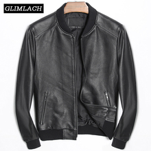 Genuine Cow Leather Aviation Flight Pilot Leather Jacket Real Cowhide Men Bomber