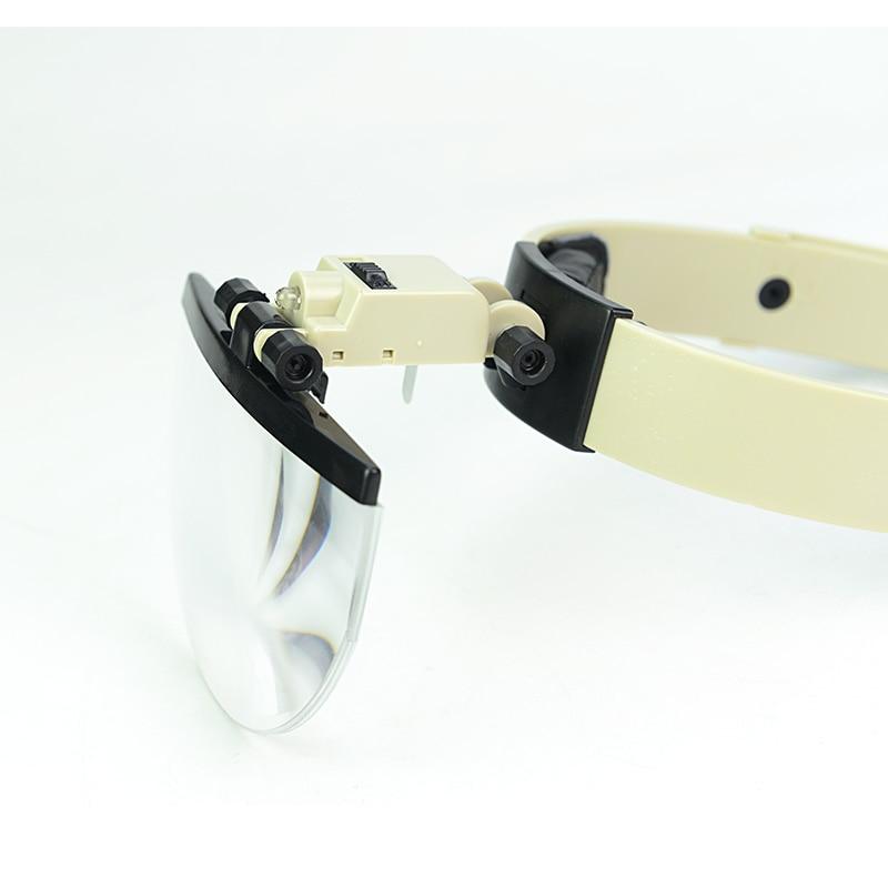 2X 3,8 x 4,5 x 5,5 x přilba zvětšovací sklo LED osvětlené - Měřicí přístroje - Fotografie 4