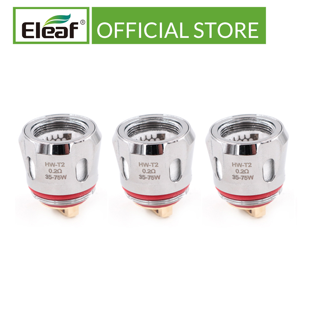 3pcs/lot Original Eleaf HW-T/HW-T2 0.2ohm Head For Eleaf IJust 3 Pro Kit With Innovative Turbine System Electronic Cigarette