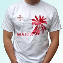 Malta Palm flag - white t shirt holiday top design mens womens kids baby sizes(China)