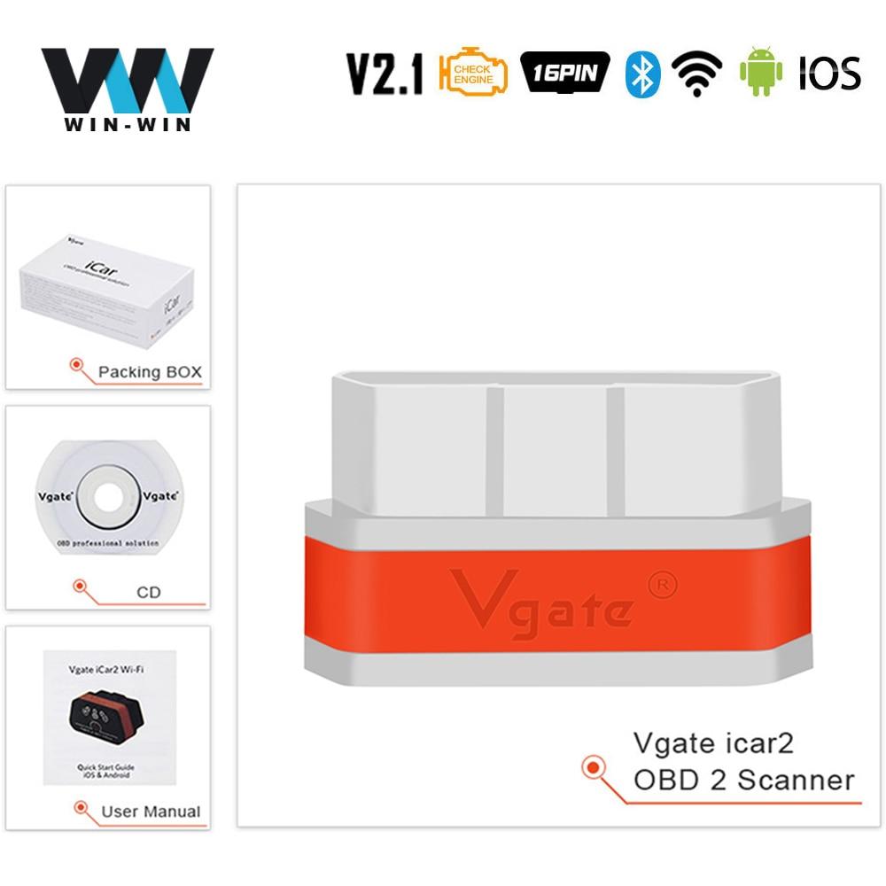 Vgate iCar 2 ELM327 V2.1 OBD2 Adaptateur Bluetooth OBD2 Scanner Voiture Lecteur de code
