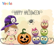 Yeele Halloween Photocall Witch Owls Pumpkin Ins Photography Backdrops Personalized Photographic Backgrounds For Photo Studio