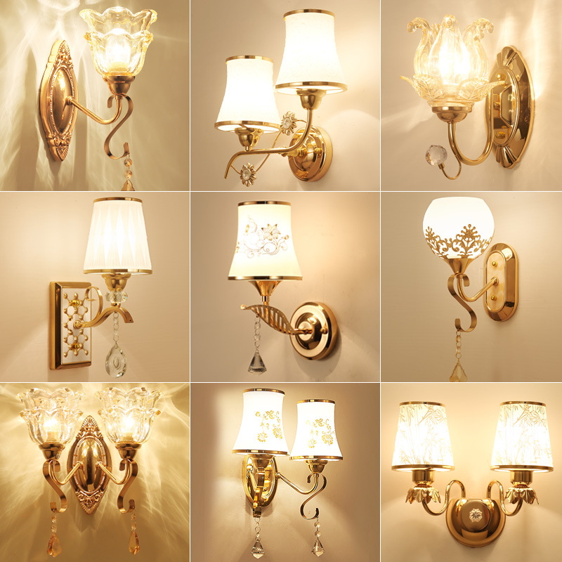 Creative Modern LED Crystal Wall Lamp Bedroom Bedside Lamp Aisle European Living Room Background Wall Lamps Wall Lights for Home