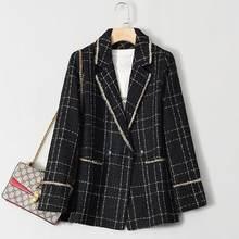 Женский приталенный костюм куртка в западном стиле Европейская