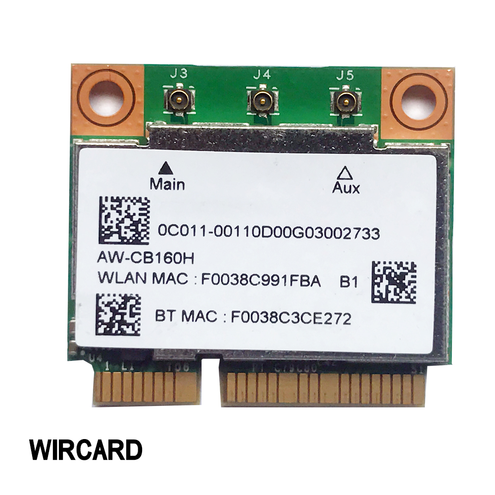 AW-CB160H  BCM94360HMB 802 11AC 1300Mbps WIFI Wireless WIFI Bluetooth 4 0 Mini PCI-E Card 3PCS IPEX4 Antenna