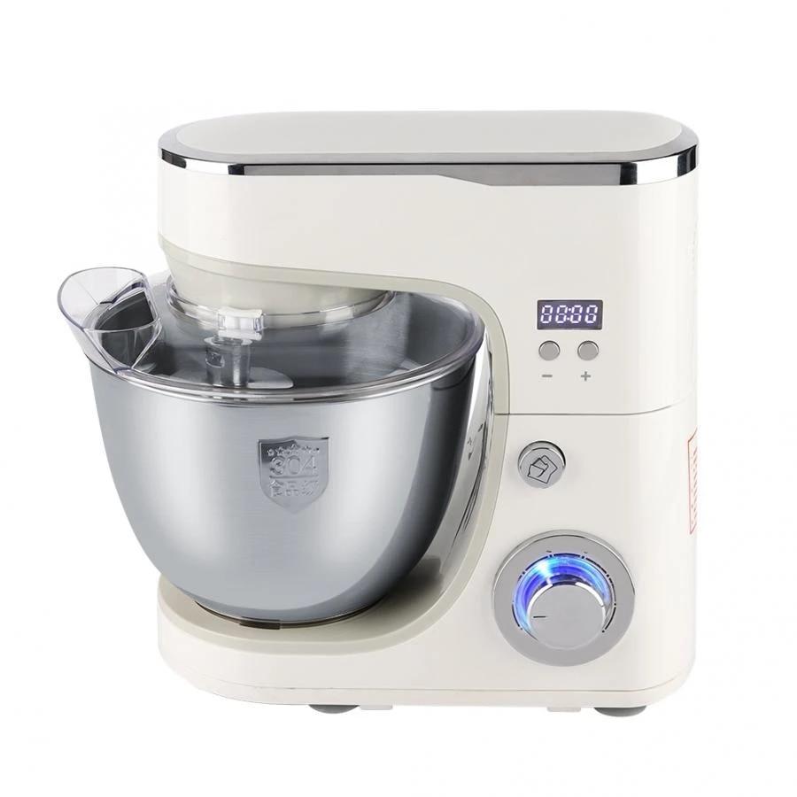 1000w Rvs Kom 6 Tempo Keuken Voedsel Stand Mixer Creme Ei Garde Blender Cake Deeg Brood Mixer Maker Machine Mixer Aliexpress