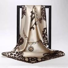 Шелковые шарфы женские платки 90*90 см квадратная голова хиджаб шарф дамы шифон шаль обёрточная бумага глушитель парео бандана женский