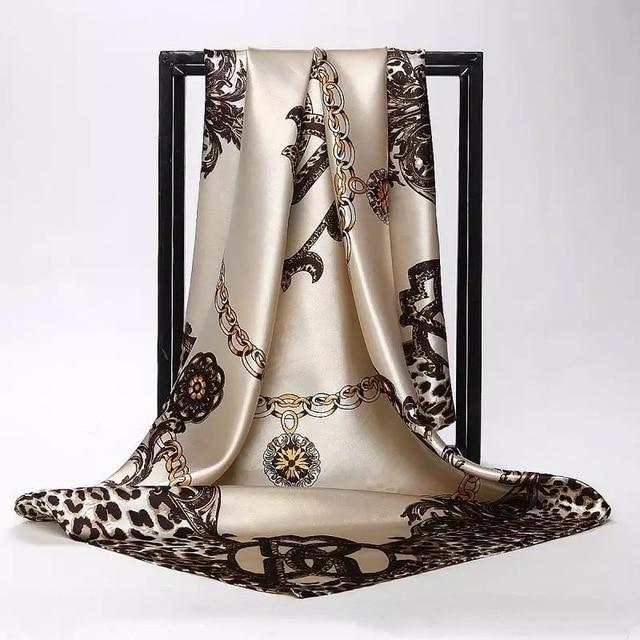 Silk Foulard 90*90cm Square Head Hijab Scarf