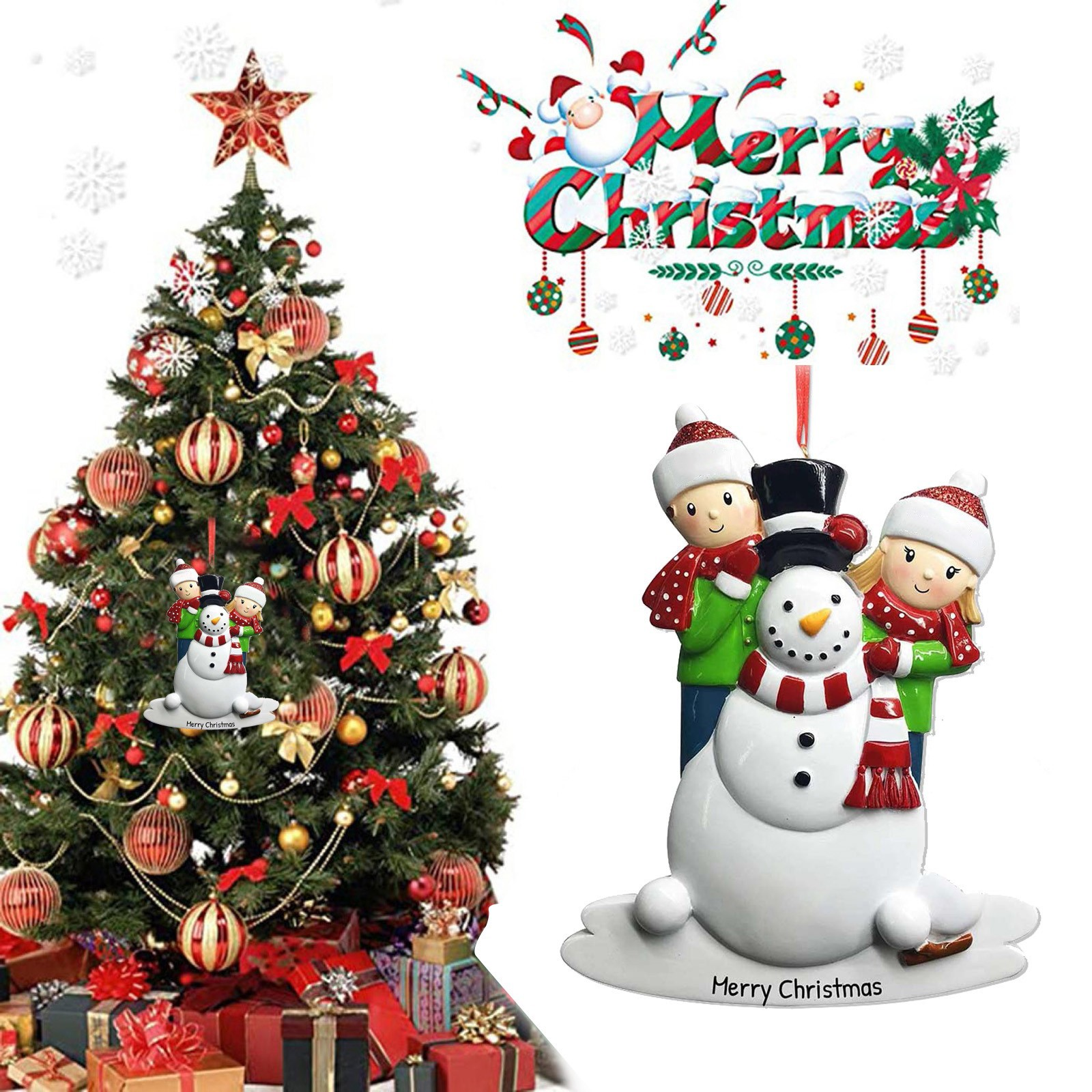 2020 Christmas Ornaments Hanging Decoration Gift Product Personalized Family Christmas Tree Pendant Hanging Decoration