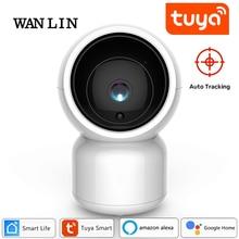 WANLIN Wholesale Tuya Smart Life 1080P IP Camera 2MP Wireless WiFi Baby Monitor PTZ Work with Alexa Google Home Assistant Hub