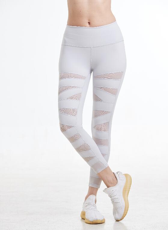 2020 women mesh leggings skinny sport pants 4