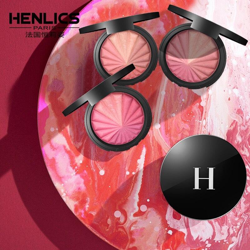 Fard à joues HENLICS 3 couleurs fard à joues professionnel fard à joues bronzant fard à joues Contour du visage fard à joues beauté cosmétique