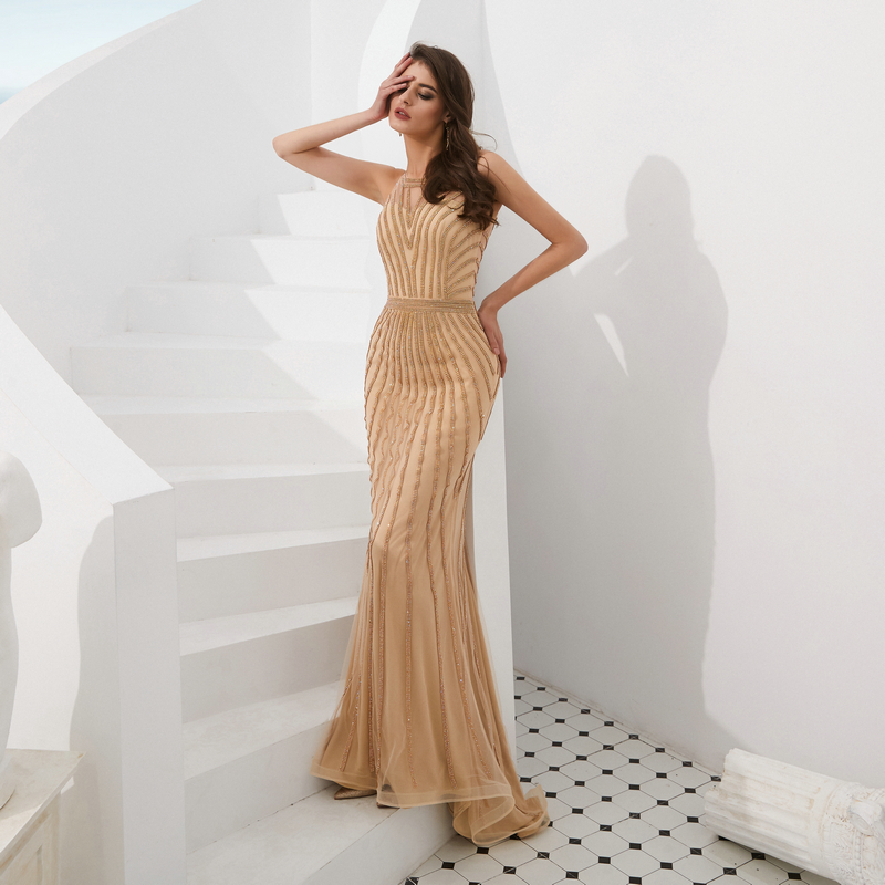 Big SaleŸEvening-Dresses Mermaid Sleeveless Long for Women Vestidos-de-fiesta/De/Noche Charming