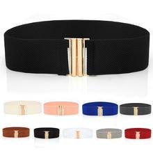 Belt Cummerbunds-Strap Buckle Elastic-Waist-Belt Wide-Corset Women Apparel-Accessories