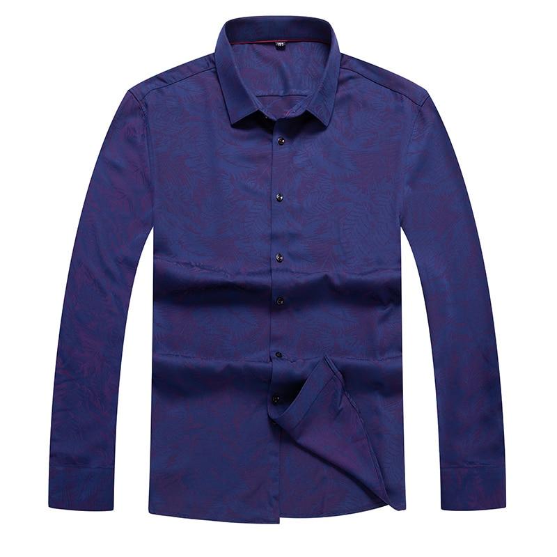 10XL 8XL 6XL 5XL 4XL Cotton Autumn Winte Loose Fit Casual Shirts Long Sleeve Print Shirt Social Men Dress Shirts Chemise Homme