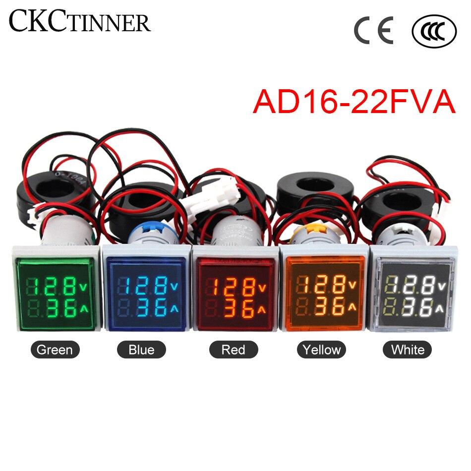 60-500V AC Digital LED Display Voltage Indicator Signal Light Voltmeter Tester Blue