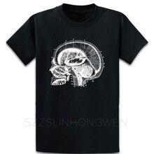 Camiseta Vintage de manga corta con estampado de cabeza de Anatomía Humana, diseño bonito y auténtico de verano con imágenes de cuello redondo