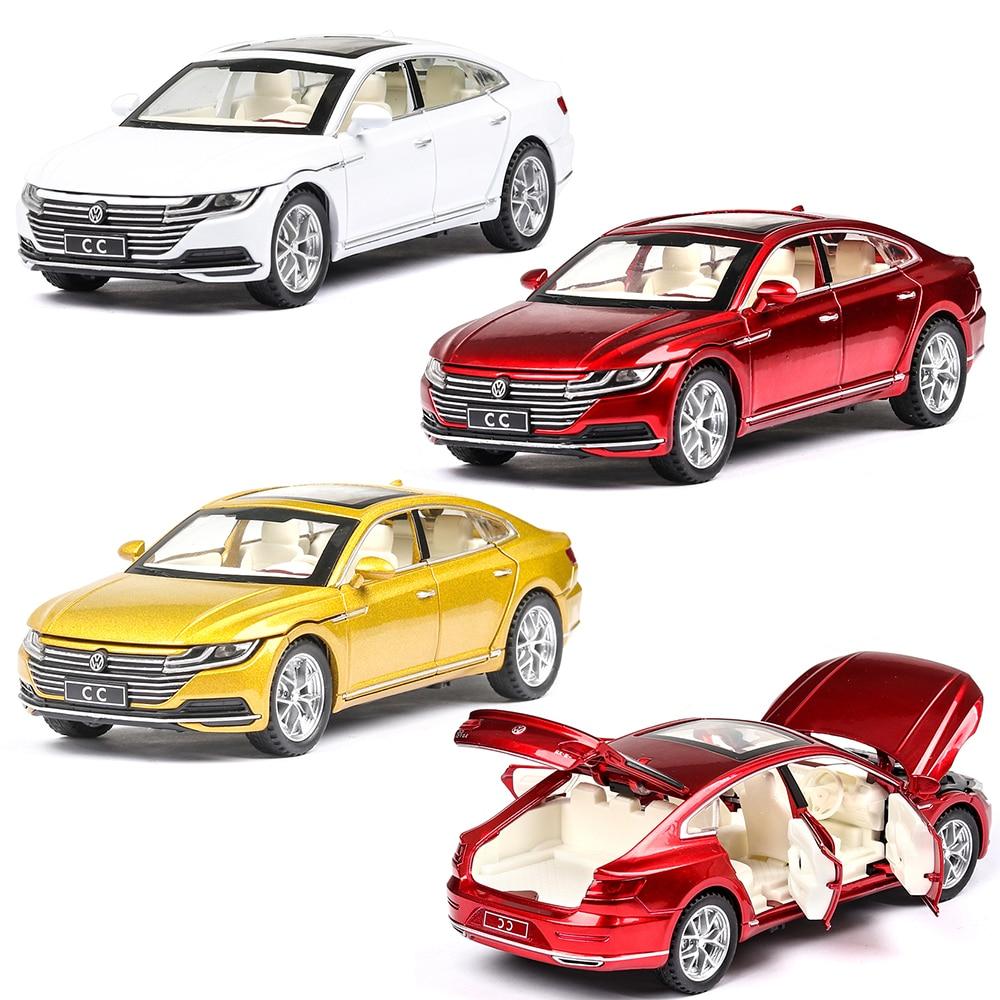 1:32 Volkswagen CC Diecast Toy Musical Lighting Machine Vehicles Hot Wheel Car Model Metal Body