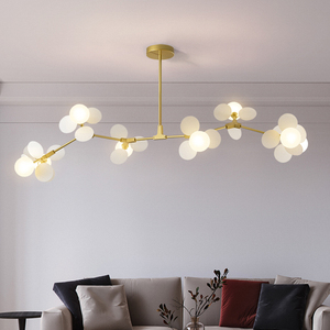 Image 4 - Living room chandelier Nordic lighting design personality creative restaurant lamp villa duplex chandeliers home lighting