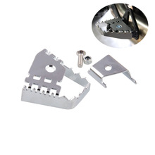 Sliver Rear Foot Brake Lever Extender Enlarge Extension Peg Pad Pedal For BMW F800GS F700GS F650GS R1150GS GS C16