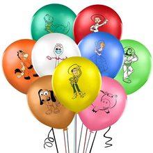 9 pçs 12 polegada brinquedo dos desenhos animados história balões buzz lightyear látex ballons chuveiro do bebê festa de aniversário decoração tema herói crianças presente