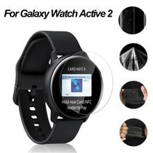Прозрачная Гидрогелевая защитная пленка из ТПУ для Samsung Galaxy Watch Active 2, защитная пленка для часов 40 мм 44 мм