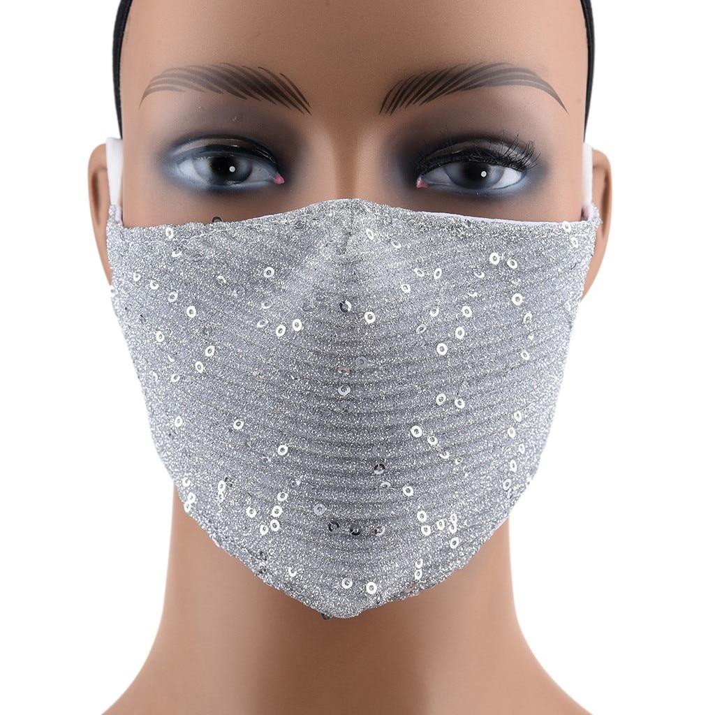 Маска для лица PM2.5 многоразовая моющаяся с яркими блестками, 2 шт.
