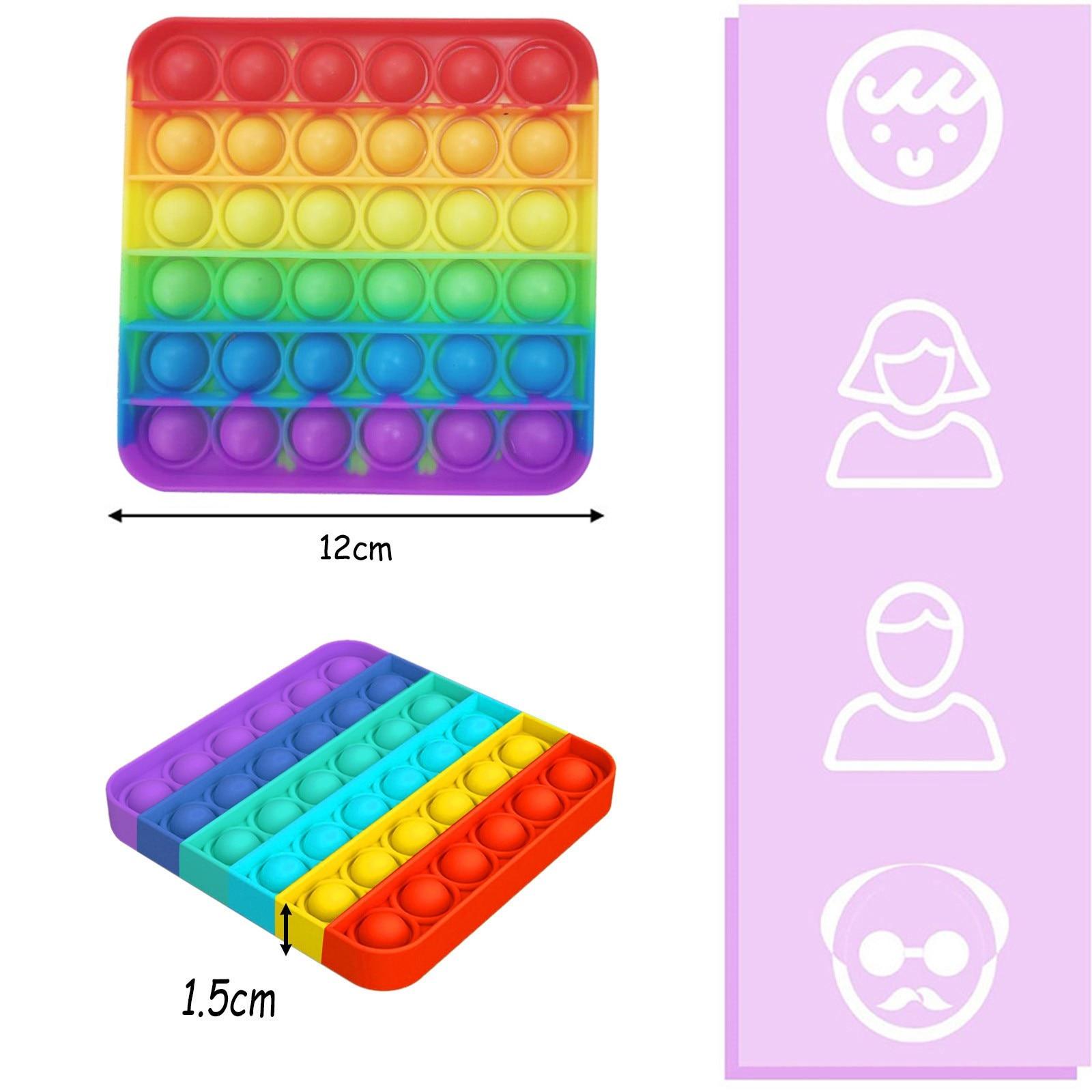 Toys-Set Figet-Toys Fidget Marble Relief Gift Anti-Stress Poppit Children Pop-It-Box-Strings img5