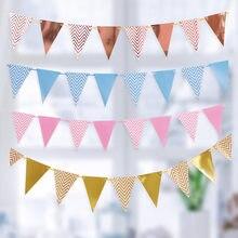 Oro rosa Felice Festa Di Compleanno della Bandiera 1st Prima Di Compleanno Della Ragazza del Ragazzo Partito Per Bambini di Età Bunting Bandiere di Carta Di Compleanno Ghirlanda di Un anno
