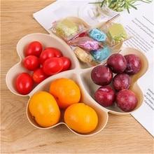 VOGVIGO, plato de fruta en forma de corazón, caja de almacenamiento de platos creativos, platos de aperitivos de frutas secas, recipiente dividido para platos de postres y dulces
