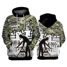 Толстовки плотника пуловер с 3d принтом для мужчин и женщин