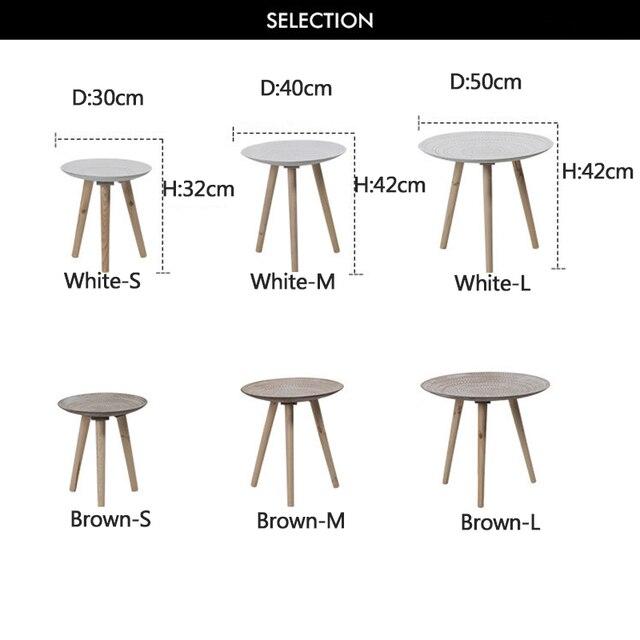 Creative Round Nordic Wood Coffee Table 6