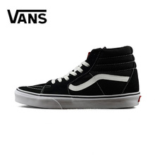 Original Vans Old Skool Men Canvas Sneakers Red Black Breathable Outdoor Women Skateboarding Shoes Size 36-44