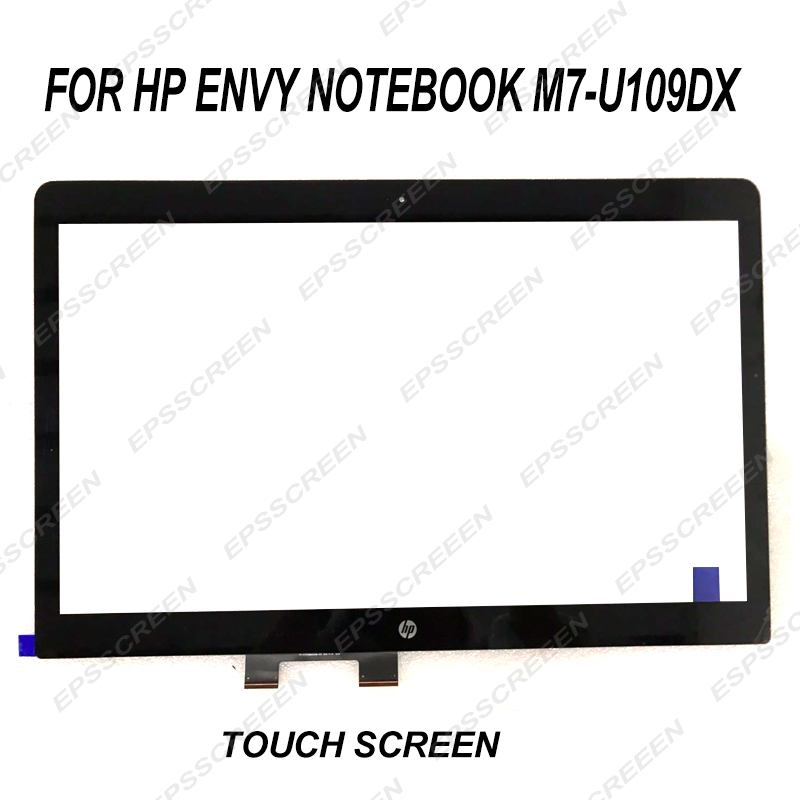 """NEW REPLACE for Hp Envy M7-U M7-u009dx/109DX 17.3"""" Sensor Lens Touch Screen Digitizer Glass DISPLAY BLACK AND YELLOW CABLE"""