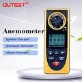 GM8910 Многофункциональный цифровой анемометр с температурой ветра и температурой росы Барометрический Тестер давления с красочной коробкой