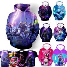 New Battle Game 3D Hoodie Children Hoodies Streetwear Hip Hop Warm Swea