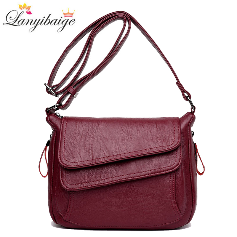 Winter Hot Selling Women Handbags Soft Leather Luxury Handbags Women Bags Designer Crossbody Bags For Women 2019 Shoulder Bag