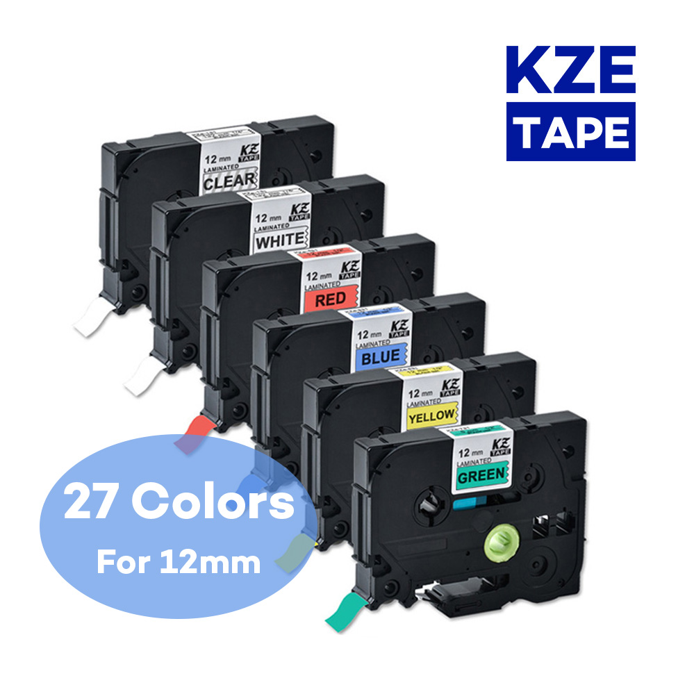 12mm Brother label tape Tze-231 Multicolor Laminated label ribbon tze tape for p-touch label printer