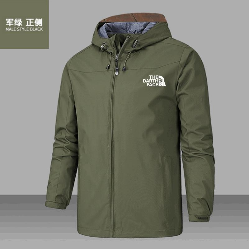 2020 solid color fashion sport men Autumn And winter coat outdoor lightweight jacket with hood zipper warm windproof coat