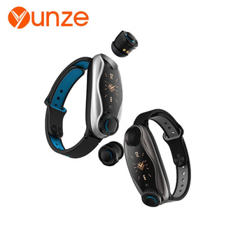 YUNZE T90 smart watch ANDROID IOS call Bluetooth 5.0 monitoring of headset heart rate blood pressure IP67 waterproof Smartwatch
