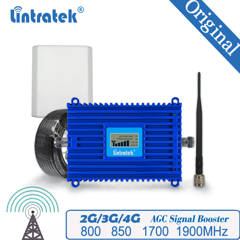 Lintratek Mobile Signal Booster 800 850 1700 1900MHz Repeater LTE GSM WCDMA Amplifier Band 20 Mobile Signal Booster #40