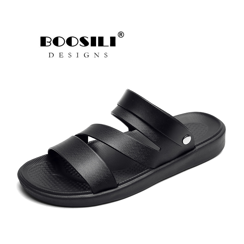 2020 New Mens Leather Sandal Men's Garden Shoes Summer Sandals High Quality Breathable Clogs Lightweight Big Size 45