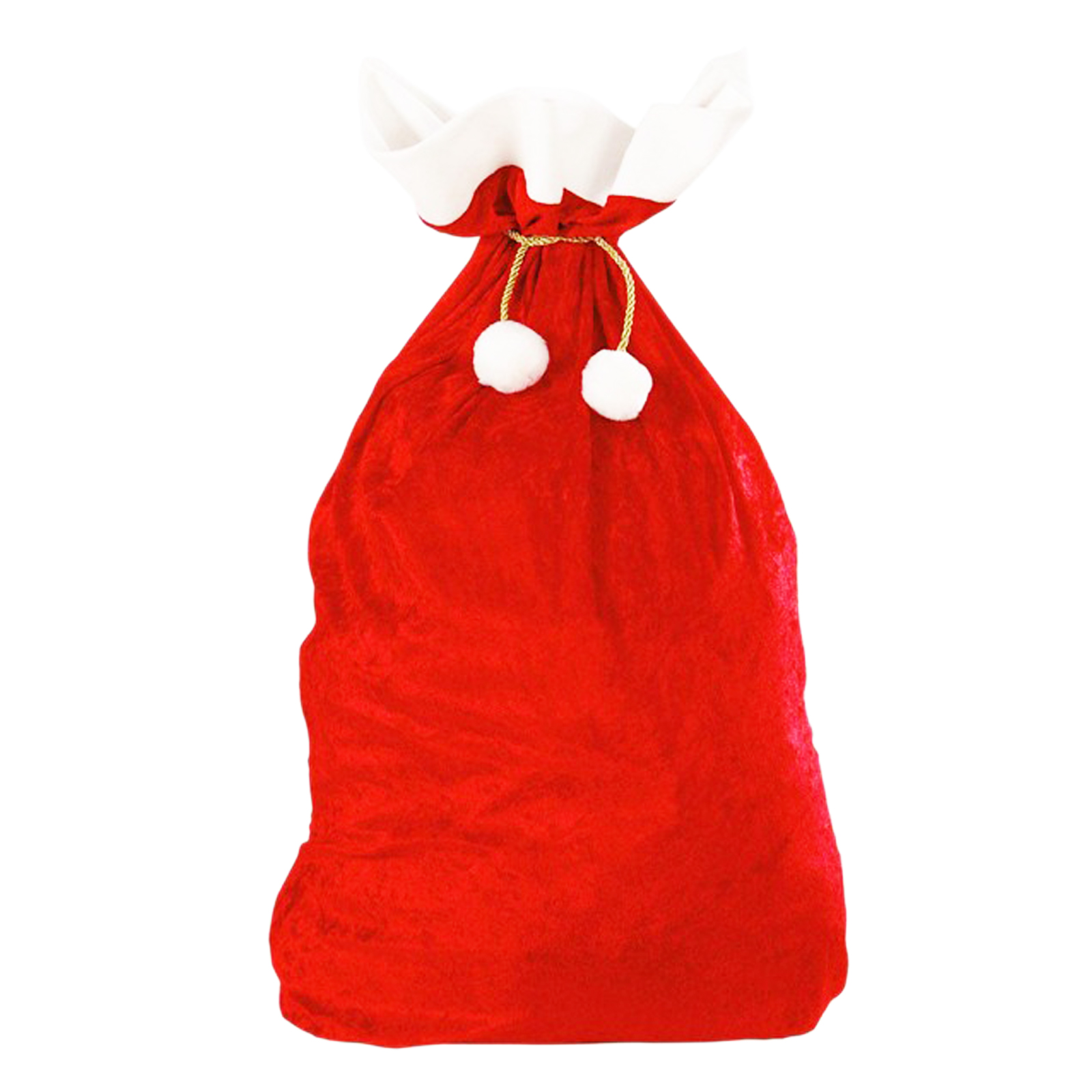 Подарочные пакеты с красным Санта-Клаусом 70x50 см, большие высококачественные бархатные супер мягкие мешки для конфет с золотом, рождественс...