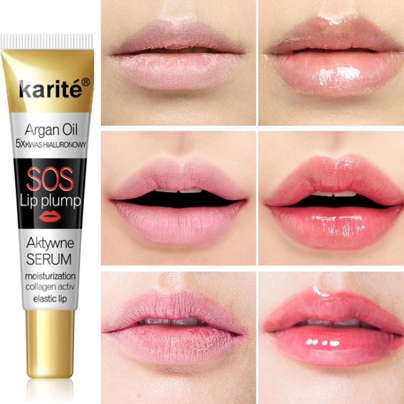 Instant Lip Plumper Increasing Lip Gloss Moisturizing Lip Repairing Reduce Lip Fine Brighten Lip Color Collagen Lip Plumper Oil
