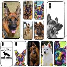 Protective German shepherd dog Phone Cover for iPhone 5S Case XR X 7 5 8 Plus 6 6S SE Xs Max Silicone(China)