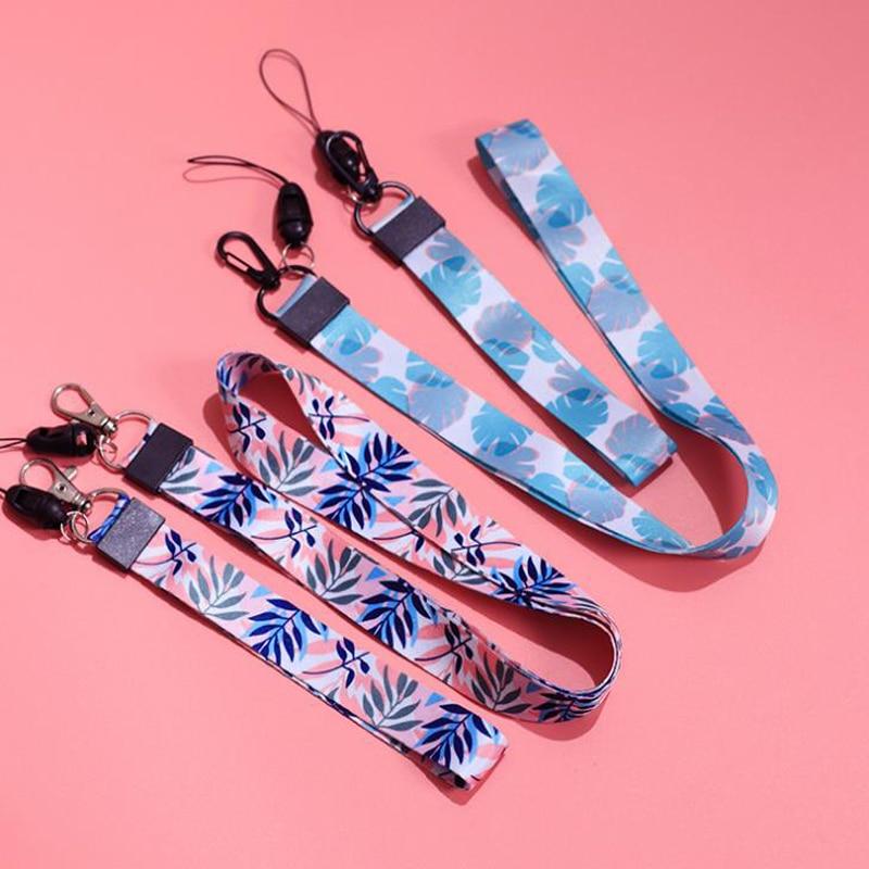 1 Pcs Cute Rabbit Leaves Colorful Retractable Badge Holder Hang Rope Lanyard Neck Strap For Work ID Card Holder Keys Badge Reel
