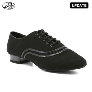 Image 3 - Chaussures de danse Standard pour hommes, chaussures de salle de bal en toile, nappée, semelle extérieure fendue, pour compétition pratique, chaussures de danse modernes