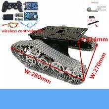 Wifi/Bluetooth/ручка управления полностью металлический MT300 умный гусеничный Rc робот танк шасси с беспроводным управлением комплект DIY для Arduino