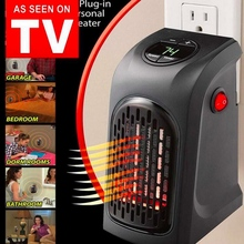 Electric Wall Heater Mini Portable Plug in Personal Space Warmer for Indoor Heating Camping Any Place Adjustable Thermostat